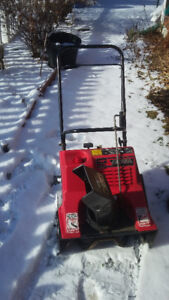 Gas Snow Thrower Noma in good working condition