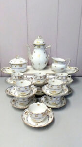 Vintage Herend Coronation dinner,coffee mocha sets