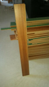 Red Oak Laminate flooring  approx. 140 sq.ft great shape