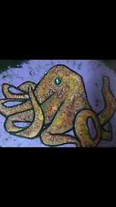 Small Original Octopus Painting