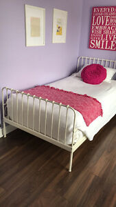 TWIN WHITE BED FRAME - $75.00