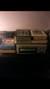 Candle 8 track player with 8 tracks