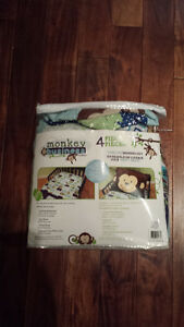 4 Piece Monkey Business Toddler Bedding Set St. John's Newfoundland image 1