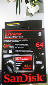 SanDisk Extreme CompactFlash 64 GB Memory Card 60MB/s