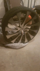 "26"" starr rims and tires"