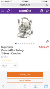 Selling Ingenuity Convert me Swing - perfect condition