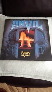 ANVIL Forged In Fire Vinyl Record ! Orig Press Minty,,,,,,,,