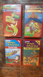 The Magic School Bus LOT OF  5 VHS Tapes, 1995 great condition
