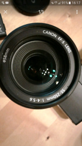 55 -250 mm Canon lens AF and IS