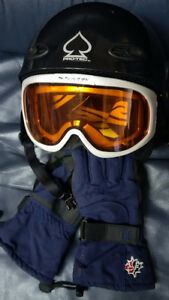 ~~~  Jr. Helmet, Goggle, Glove set - $65 for ALL  ~~~