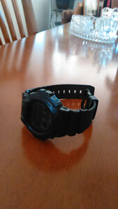 Black military style G shock watch
