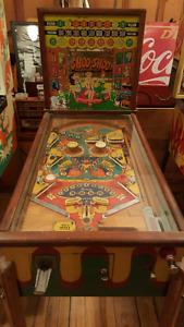 Antique Woodrail Pinball Machine