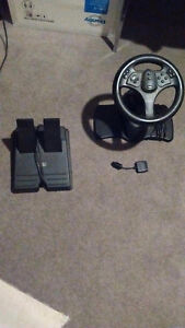 v3 interact steering wheel with gas pedal and break