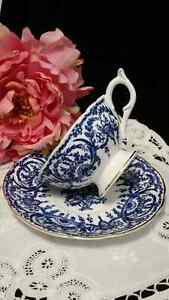 COALPORT COBALT BLUE ON STARK WHITE BONE CHINA