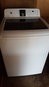 KENMORE washer with glass lid 250.00, Brand new condition