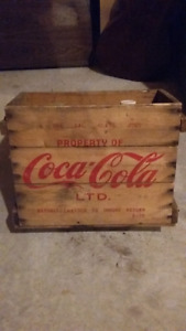 vintage Coca-Cola coke box crate case with syrup jugs
