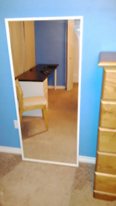 Mirror - Tall with White Trim