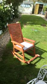 Garden solid wood rocking chair