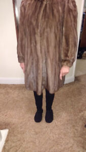 """MITCHELL'S FUR 3/4 LENGTH MINK FUR COAT"""