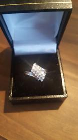 Diamond waterfall designed ring.