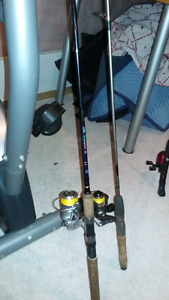 Fishing Rods, Box and Tackle