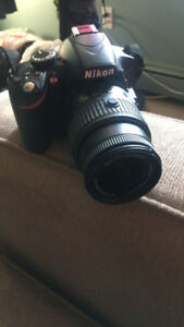 Nikon D3200 with strap and case