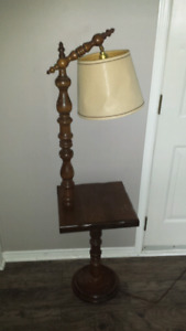 Antique lamp/table combo