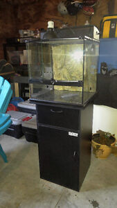 25 Gallon Reptile or Snake Terrarium with Stand and Accessories