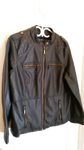 Women's Faux Leather Jacket Size 1X,Brand New