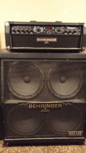 Behringer VAmpire LX1200H amp with 4X12 cabinet