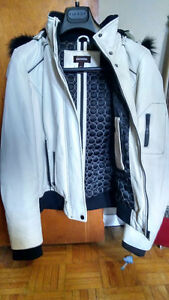 White leather jacket from Danier