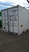 NEW WHITE 10FT STD STORAGE CONTAINERS
