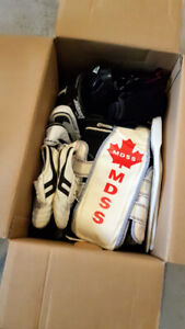 SPORT ITEMS, HELMET, HEAD AND CHEST PROTECTORS, GLOVES, SHOES