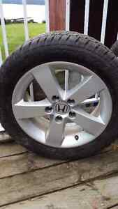 2006 Honda Civic Rims and Studded Tires