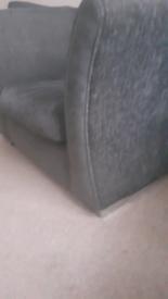 Grey chenille fabric chair