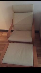 Chair with foot rest like new !