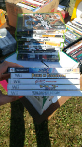 Wii games and x box games