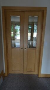 Door - 20(w) x 78 - Natural Birch, Double Door, Half Lite (Pair