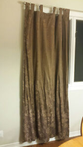 Curtains - 4 panels and 6 decorative hangs for top