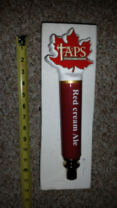 Taps brewing company red cream ale beer tap handle