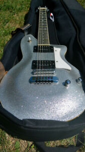 Washburn Princess Les Paul Style Electric Guitar Silver Sparkle