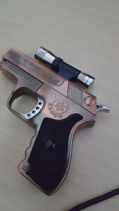 9mm Gun Lighter Pistol Butane Jet Torch Lighter With Laser Scope