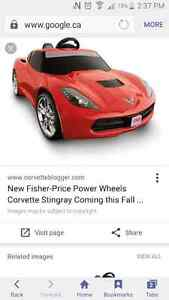 Power wheels corvette