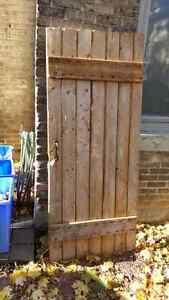 "Antique barn door 31.5"" by 76"" with original hardware London Ontario image 1"