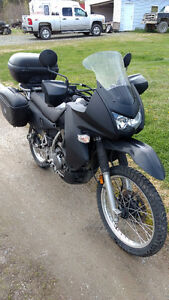 Kawasaki KLR 650, 2008. With luggage