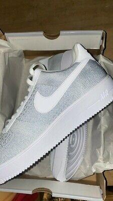 Nike Air Force 1 flyknit 2.0 white/ Platinum size 12 BNIB