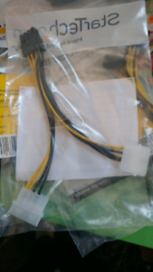 PCI Express Adapter Cables 6-pin to 8pin and 4 pin to 8 pin
