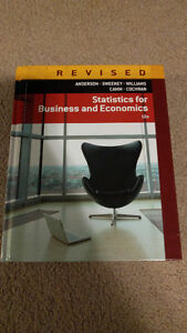 Statistics for Business and Economics - MGTSC 501