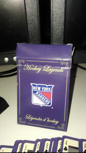 Hockey Legends Playing Cards. New York Rangers