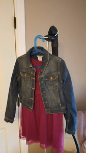 Denim jacket and dress size 8 or m/m